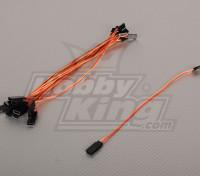 20cm Servo Lead (JR) 32AWG Ultra Light (10pcs / bag)