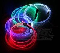 Fiber Optic Lumières pour vol de nuit (bleu)