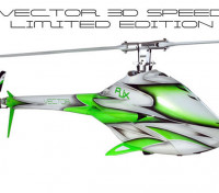RJX Vector 700 EP 3D Speed ​​Limited Edition Flybarless Kit d'hélicoptères