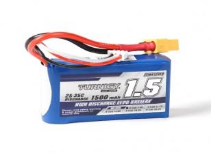 Turnigy 1500mAh 2S 25C Lipoly Battery w/XT60