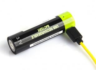 Znter ZNT18650 3.7V USB Rechargeable 18650 LiPoly Battery (1pc)