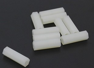5.6mm x 18mm M3 Nylon taraudé Spacer (10pc)