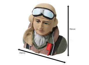 Seconde Guerre mondiale Allied Pilot (H68 x W72 x D43mm)