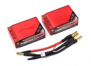 Trackstar 4800mAh 7.4V 70C Lipo Car Pack 2S3P