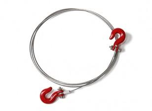 1/10 Échelle RC Alloy Rope Chain et Crochets pour Rock Crawler