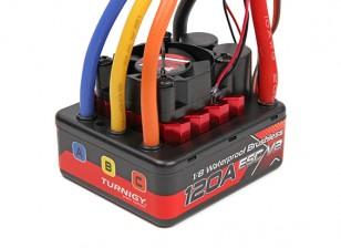 TrackStar 1 / 8ème Brushless Sensorless 120A waterproof ESC V2