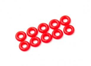 2 en 1 kit joint torique (néon rouge) -10pcs / sac