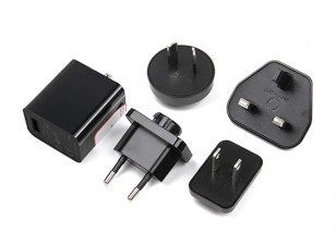 Adaptateur USB prise interchangeable 5V 2.5A