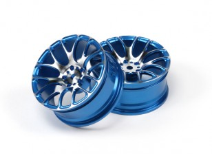 1/10 Aluminium Drift 7Y-Spoke Wheel-Blue