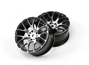 1/10 Aluminium Drift 7Y-Spoke Wheel-Black