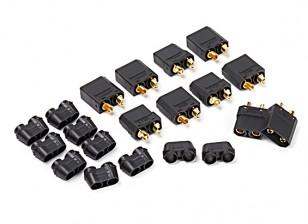 Nylon XT90 Connecteurs Mâle / Femelle (5 paires) Noir