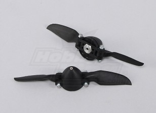 Folding Propeller W / Hub 35mm / 3mm 6x6 (2pcs)