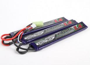 Turnigy nano-tech 1400mAh 3S 15 ~ 25C Lipo AIRSOFT Paquet