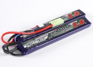 Turnigy nano-tech 2000mah 2S 15 ~ 25C Lipo AIRSOFT Paquet
