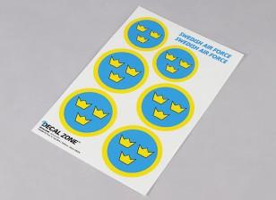 Échelle de la Force Aérienne Nationale Insigne Decal Sheet - Suède