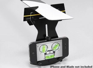 Flybarless Helicopter pitch Gauge pour une utilisation w / Smartphone