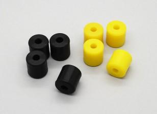 Bumblebee - Housse de silicone (noir, jaune) (4pcs / sac)