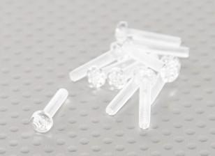 Transparent Vis en polycarbonate M3x15mm - 10pcs / bag