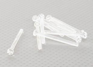 Transparent Vis en polycarbonate M4x45mm - 10pcs / bag