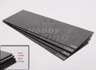 Tissé Carbon Fiber Sheet 300x100 (1.0MM épais)