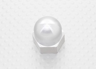 19mm Alloy Prop Nut / Spinner Suites 5mm Thread (Anodisé Argent)