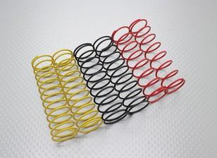 Amortisseur Ressorts noir / jaune / rouge (2pcs chaque couleur) - A2038 & A3015