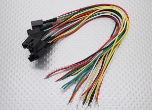 Molex 5 Pin connecteur femelle Câble avec 230mm x 26AWG Fil (5pc)