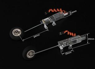Turnigy 90 degrés tout en métal Système Retract w / (modèles 2kg AUW Max) de 3mm de fil jambe