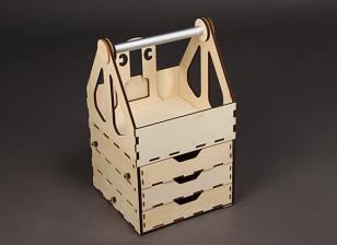 H-King Laser Cut Plywood Box Champ 400mm x 235mm x 235mm de - Self Assembly