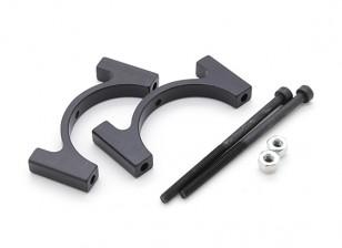 Anodisé noir CNC en aluminium Tube Clamp 28mm Diamètre