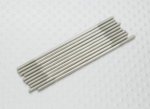 M2 x 65mm Steel Poussez Rod (10pc)