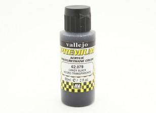 Peinture acrylique de couleur Vallejo Premium - Black Candy (60ml)