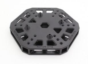 RotorBits HexCopter Centre de montage (Noir)