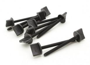 Nylon Thumbscrew Wing Bolt M4x45 (10pcs)