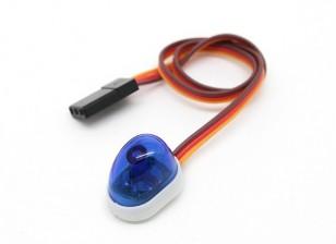 Style de Voiture de police Single LED Light (Bleu)