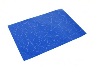 Étoile Motif auto-adhésif Decal Set 420 x 300mm (Bleu) (1pc)