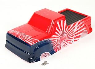 coque peinte avec décalque - Nitro Circus Basher 1/8 Scale Monster Truck