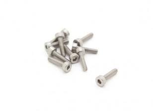 Titanium M2 x 8 Vis à tête creuse hexagonale (10pcs / bag)