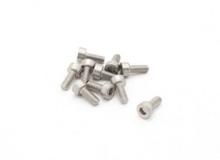 Titanium M2.5 x 6 Vis à tête creuse hexagonale (10pcs / bag)