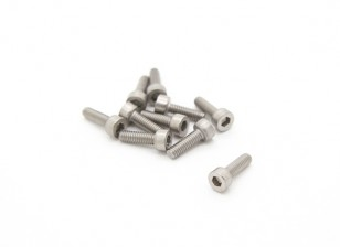 Titanium M2.5 x 8 Vis à tête creuse hexagonale (10pcs / bag)