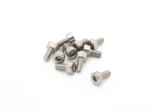 Titanium M3 x 6 Vis à tête creuse hexagonale (10pcs / bag)