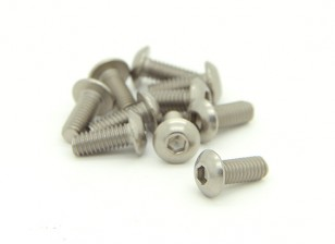 Titanium M4 x 10mm Dôme tête hexagonale Vis (10pcs / bag)