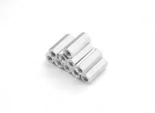 En aluminium léger Hex Section Spacer M3 x 13mm (10pcs / set)