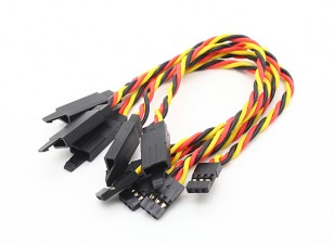 Twisted 15cm Servo Extention Lead (JR) avec crochet 22AWG (5pcs / bag)