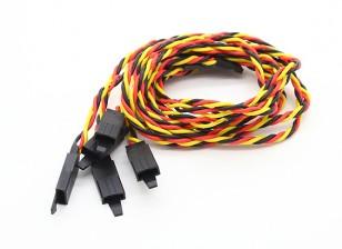 Twisted 45cm Servo Extention Lead (JR) avec crochet 22AWG (5pcs / bag)