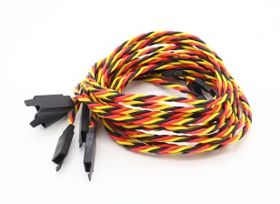 Twisted 80cm Servo Extention Lead (JR) avec crochet 22AWG (5pcs / bag)