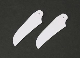 RJX Blanc 85mm en plastique Lames de queue (1 paire)