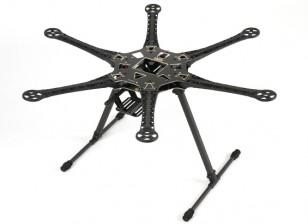 Frame Kit S550 Hexcopter Avec PCB intégré 550mm (Noir)