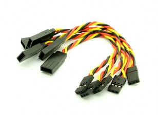 10cm JR 22AWG Twisted rallonge M à F 5pcs