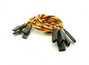 20cm JR 22AWG Twisted Extension Lead M à F 5pcs